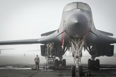 USAF B1 Bomber Waits in Undisclosed Location