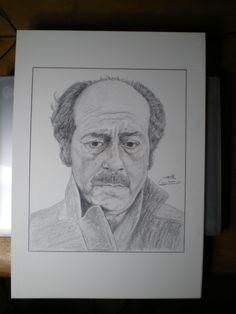 López Vázquez. Lápiz de color. Obra de Pablo López Muñoz