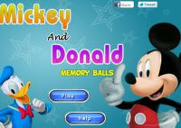 Mickey And Donald Memory Ball Game