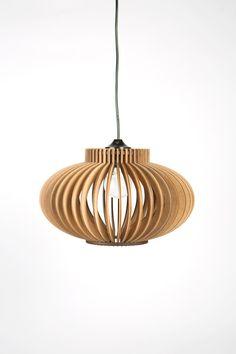 Scandinavian style wooden hanging lamplightingLampwooden door BOTEH