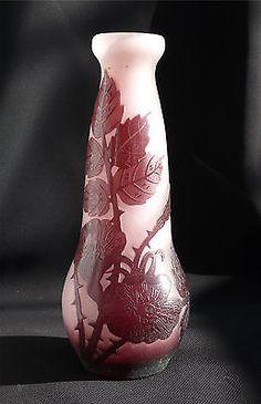 Fine Andre Delatte Adelatte Nancy France Cameo Art Glass Vase | eBay