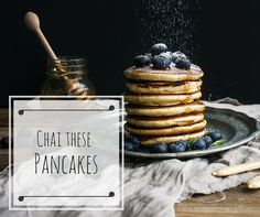 Chai These Pancakes - the ultimate sweet and lightly spiced pancake recipe. Enjoy!