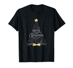 Amazon.com: Classy Merry Christmas Tee with Christmas Tree & Snowflakes T-Shirt: Clothing  #findyourthing #shopping #blackfriday #cybermonday #christmas #gifts #giftideas #giftsforhim #giftsforher