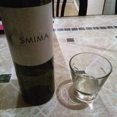 Drinking some #local #wine from #Kavala made out of a local #variety ..#kosmima or #jewel  in #English.  #Light  and #fruity