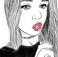 art, noir et blanc, dessin, mode, fille, grunge
