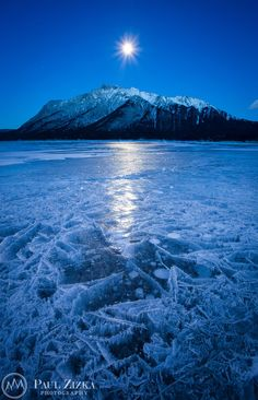"""Flash Frozen"" - Abraham Lake, Canadian Rockies - Alberta, Canada"