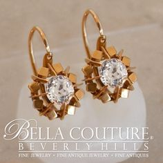 BELLA COUTURE ® - SALE PENDING! - ANTIQUE Rare French Georgian Victorian 1.25 CT Cushion Square Mine Cut Paste 18K 18Ct Solid Rose Gold Earrings Circa 1700s - 1840s Fine  Jewelry, $740.00 (http://www.bellacouture.com/sale-pending-antique-rare-french-georgian-victorian-1-25-ct-cushion-square-mine-cut-paste-18k-18ct-solid-rose-gold-earrings-circa-1700s-1840s-fine-jewelry/)