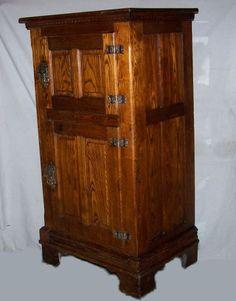 Antique Wood Ice Box