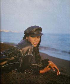 Naomi Campbell Vogue Italy October 1990. Photography: Sante D'Orazio