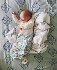 Mermaid onesie, newborn photography, sleeping baby, mermaid Ivy Rose, Baby Mermaid, Baby Sleep, Newborn Photography, Onesies, Kids, Young Children, Boys, Newborn Baby Photography