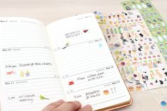 Mark up your daily events with a fun colorful touch! You can use these stickers not only in your calendar, but as decoration for your notes, letters, and more.