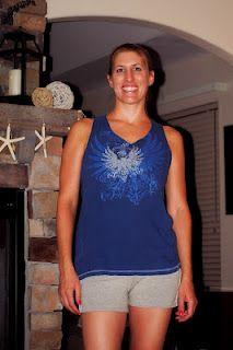 ellzabelle: DIY- T Shirt to Workout Tank