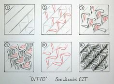 Sue's tangle trips: Ditto - new tangle pattern