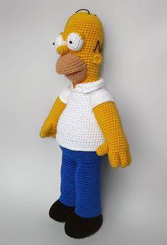 Homer Simpson amigurumi crochet pattern by Anna Vozika