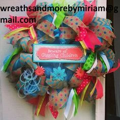 Giggling kids wreath