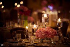 Beautiful Center pieces at voilen + peter's wedding  Photo Credit: www.susanstripling.com www.HotelduPont.com/weddings