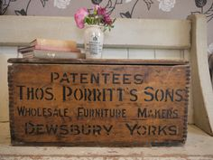 Hearty Vintage Wooden Crate Box From Dewsbury Boxes/chests