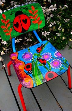 ladybug chair by Laurie Miller Designs, via Flickr Upcycle Furniture