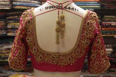 The Bridal Boutique in Chennai - Designer bridal boutique & Tailoring South Indian Blouse Designs, Blouse Designs High Neck, Hand Work Blouse Design, Fancy Blouse Designs, Wedding Saree Blouse Designs, Pattu Saree Blouse Designs, Churidar Designs, Embroidery Neck Designs, Embroidery Patterns