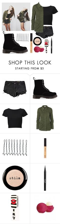 """""""Amanda Steele inspired outfit :)"""" by thivyaharding ❤ liked on Polyvore featuring Ksubi, Dr. Martens, Lipsy, Vero Moda, BOBBY, Maybelline, Stila, Forever 21 and Eos"""