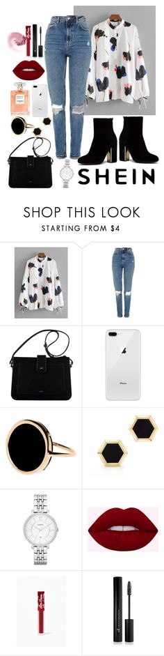 """""""Untitled #116"""" by alexandrrraaa on Polyvore featuring Topshop, Ginette NY, Birks, FOSSIL, Lime Crime and Forever 21 Lime Crime, Fossil, Forever 21, Topshop, Polyvore, Stuff To Buy, Shopping, Design, Women"""