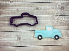 Vintage Pickup Truck Cookie Cutter and by BobbisCookiesCutters