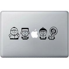South Park MacBook Sticker Zwarte Stickers