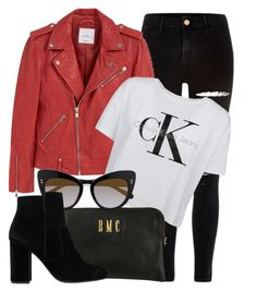 15:06 by monmondefou on Polyvore featuring polyvore fashion style Calvin Klein MANGO River Island STELLA McCARTNEY clothing black red