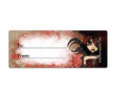 Download this Vampire Mailing Label and other free printables from MyScrapNook.com