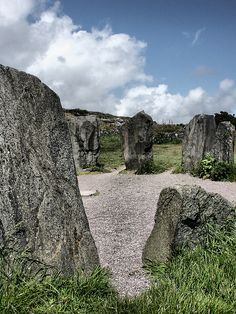 "https://flic.kr/p/Q33mX2 | Dromberg Stone Circle | Ireland.  Drombeg stone circle (also known as The Druid's Altar), is a Recumbent stone circle located east of Glandore, County Cork, Ireland. Drombeg is one of the most visited megalithic sites in Ireland. The area of the circle has been covered in gravel to protect it from the volume of visitors.  The stone circle consists of seventeen closely spaced stones. A ""Cork-Kerry type"" stone circle, it is flanked by a pair of 1.8m high axial…"