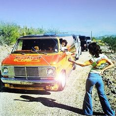 """Here's one of the best vintage Vannin' pictures ever. Remember the bumper stickers you'd see in that era: """"Gas, Grass or Ass - Nobody Rides for Free"""""""