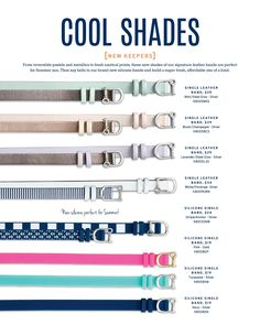 Cool Shades and silicone keepers from New Summer Collection coming May 8!! www.keep-collective.com/with/alexistompkins