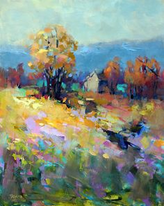 Yellow Field by Trisha Adams Oil ~ 30 x 24