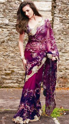 i absolutely love this sari...from the blouse, to the border, to the work.