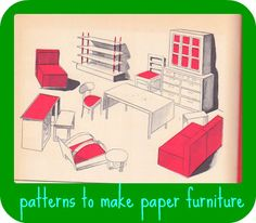 ideas for paper doll house furniture
