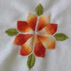Creative Embroidery, Hand Embroidery Designs, Embroidery Patterns, Hardanger Embroidery, Ribbon Embroidery, Embroidery Stitches, Cross Stitch Material, Cross Stitch Patterns, Bargello Needlepoint