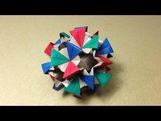 【折り紙(おりがみ)】 薗部式くす玉の折り方 作り方 立体 多面体 ユニット 上級 - YouTube