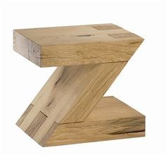 Solid oak 'Z' stool - Another super cool stool from www.solidoak.co.uk.