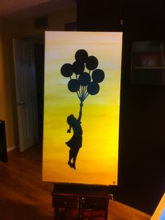 Girl with Balloons painting Never let go by Michael H Prosper, $94.50