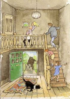 """We're Going on a Bear Hunt"" by Michael Rosen (writer)  & Helen Oxenbury (illustrator), Walker Books, 1989."