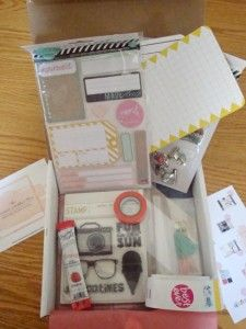 The Planner Addict Box – July 2015 - Planner goodies and samples! Super fun!