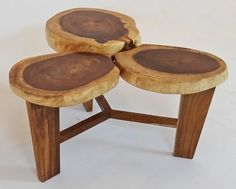 Furniture, Interesting Natural Wood Coffee Table With Three Legs Of The Table And Three Slabs Also Cheap And Unique: Awesome Rustic Coffee Table Design As a Up To Date furniture Tendencys Ideas