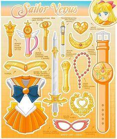 Sailor Venus, Sailor Moon Dress, Sailor Moon Manga, Sailor Moon Art, Sailor Jupiter, Sailor Mars, Sailor Moon Crafts, Cristal Sailor Moon, Sailor Moon Crystal