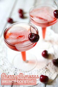 Cherry Mimosas