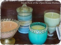 A sneak peak of some of the candles that will be for sale at my Open House this Saturday 16th.  I think there is a little something to suit anyone...  www.facebook.com/dreamcandles4740