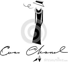 Silhouette And Painting And Coco Chanel Black And White Tones Stock Vector - Illustration of monogram, ncoco: 135917681 Silhouette Painting, Second Best, Coco Chanel, Life Is Good, Black And White, Illustration, Free, Black N White, Black White