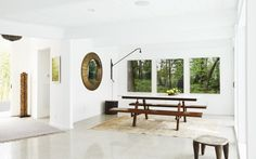The u-shaped floor plan centers around the backyard's pool and spacious terrace.