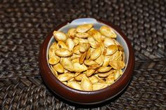 Pumpkin seeds roasted with sea salt - also has several other variations of seasonings