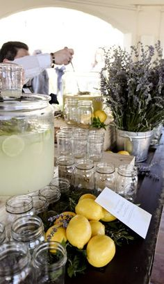 Love the idea of a lemonade stand on the big day! - lavender lemonade stand.