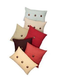 Home Fashions International  Lucky Linen Button Decorative Pillow
